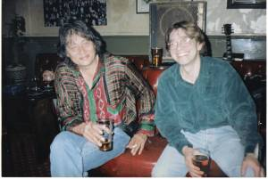 Clive Sarstedt and  me in The Peel during gig break